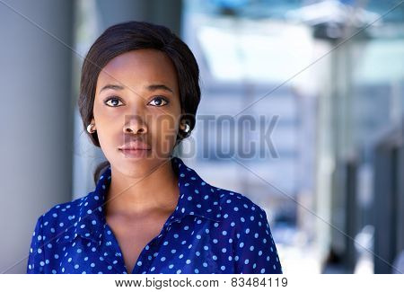 Business Woman Standing Outside Office Building
