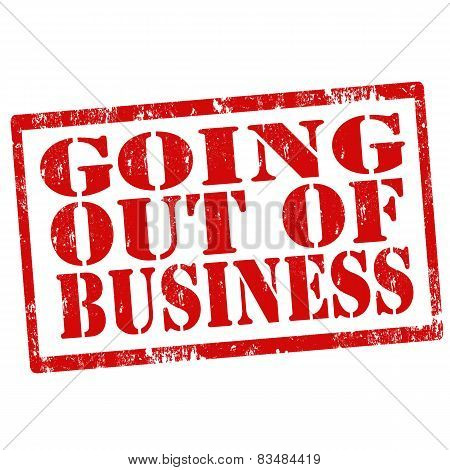 Going Out Of Business-stamp
