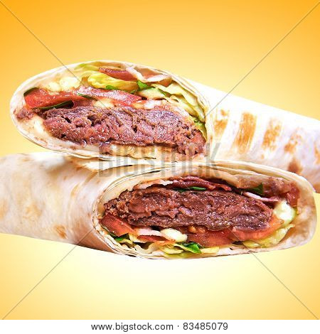 Pita - Grilled Meat And Vegetables