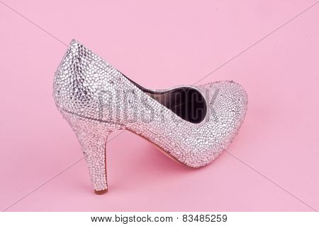 shiny high heel shoe