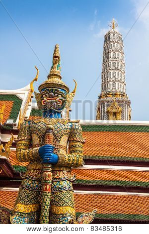Demon Guardian Wat Phra Kaew Grand Palace Bangkok