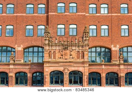 Details Of The Central Post Office Of Malmo In Sweden