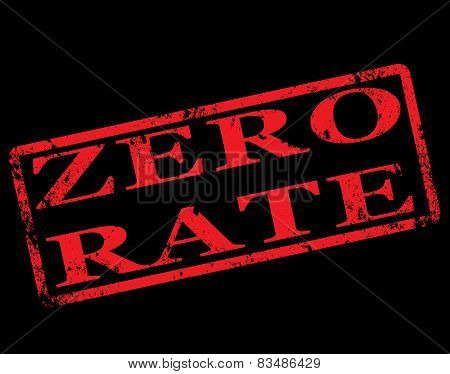 Zero Rate Stamp