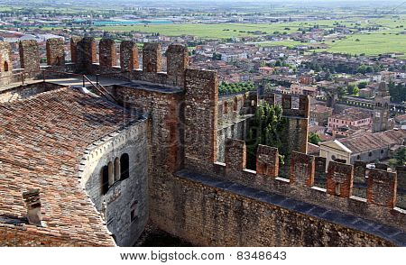 Scaligero Castle on Tenda Hill in Soave, Veneto, Italy
