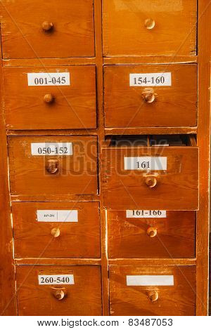 Cabinet For Keeping Paper Documents