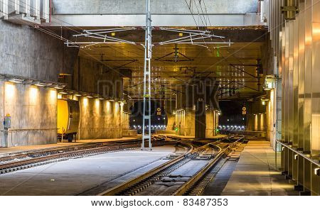 Railway Tunnel Under Malmo City In Sweden
