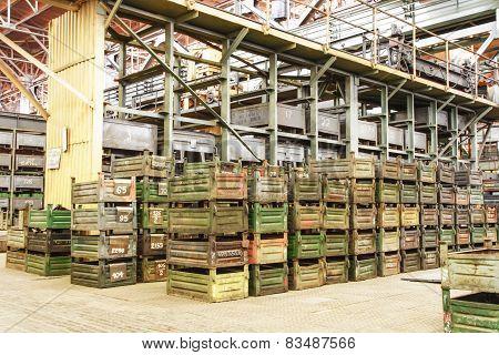 Big Storage Room With Metal Boxes