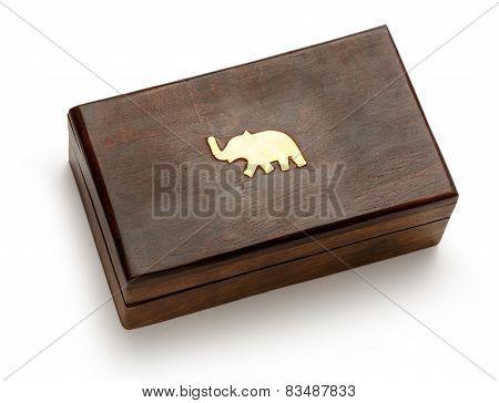 Closed Wooden Square Box