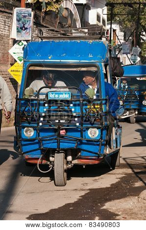 Auto Rickshaw Or Tuk-tuk On Public Stop On The Street