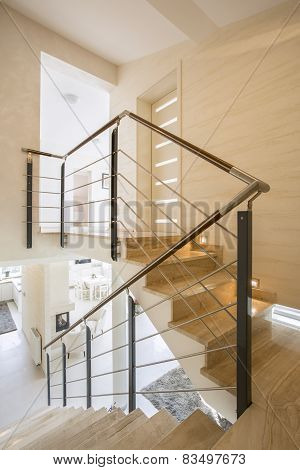Marble Staircase In Apartment
