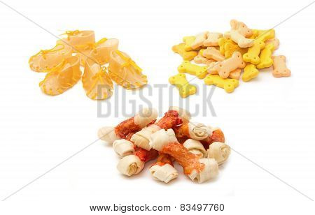 Dog Treats,dog Food On White Background