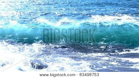 Blue Ocean Sea Wave