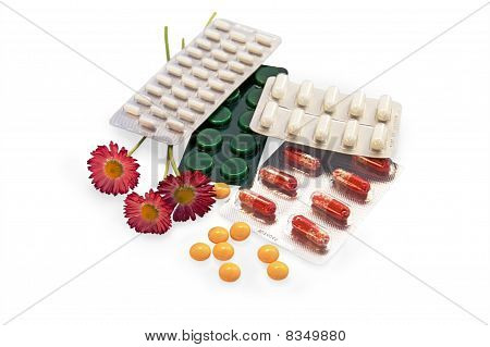 The Set Of Drugs With Daisies