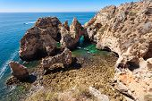 image of lagos  - Ponta da Piedade in Lagos Algarve region in Portugal - JPG