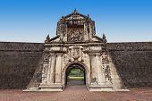 pic of conquistadors  - Fort Santiago in Intramuros Manila city Philippines - JPG