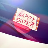 pic of wiper  - Message under a windshield wiper with hand written text  - JPG