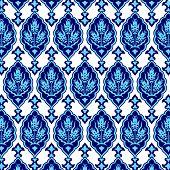 stock photo of ottoman  - Seamless pattern design inspired by the Ottoman decorative arts - JPG