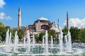 picture of constantinople  - Hagia Sophia in Istanbul Turkey - JPG