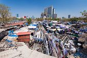 stock photo of laundromat  - Dhobi Ghat is a well known open air laundromat in Mumbai India - JPG