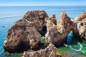 stock photo of lagos  - Ponta da Piedade in Lagos Algarve region in Portugal - JPG