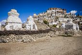 image of tibetan  - Thiksey Monastery is a Tibetan Buddhist monastery in Ladakh India - JPG
