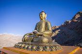 stock photo of buddha  - Buddha statue at Hemis Monastery Leh Ladakh India - JPG