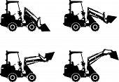 stock photo of skid-steer  - Detailed illustration of skid steer loaders - JPG