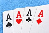 foto of ace spades  - Four aces including spades hearts clubs and diamonds - JPG