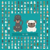 stock photo of hound dog  - Set of dog character eps10 vector format - JPG
