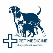 image of petting  - Pet clinic logo - JPG