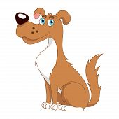 picture of hound dog  - Funny cartoon doggy - JPG