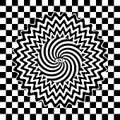 image of hypnotizing  - Black and white hypnotic retro vector poster - JPG
