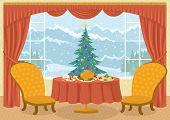 stock photo of christmas meal  - Christmas holiday background - JPG