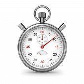 image of stopwatch  - Isolated stopwatch on white - JPG