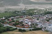 stock photo of buddhist  - View of the Buddhist monastery Samye Tibet China - JPG