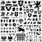 picture of crossed swords  - Collection of old coats of arms - JPG