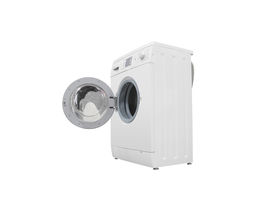 pic of washing-machine  - The image of washer under the white background - JPG