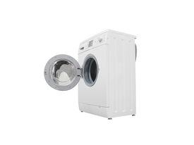 pic of washing machine  - The image of washer under the white background - JPG
