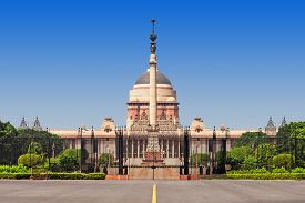 stock photo of rashtrapati  - Rashtrapati Bhavan is the official home of the President of India - JPG