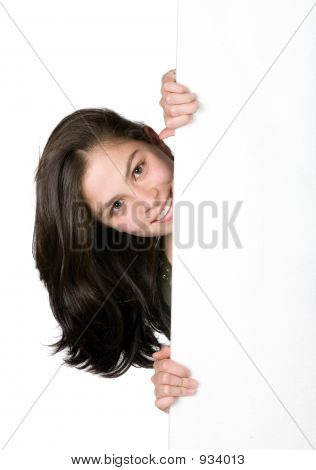 Girl Appearing On Frame