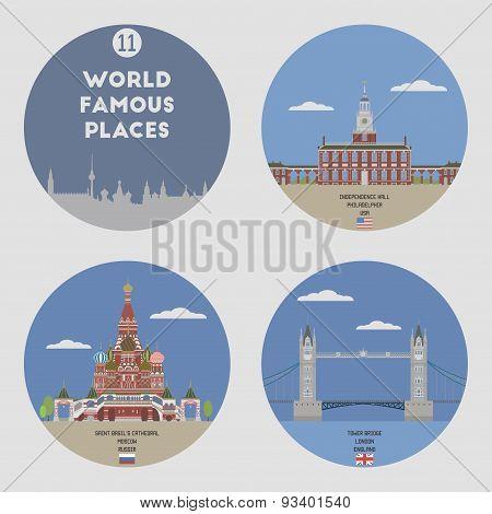 World Famous Places. Set 11