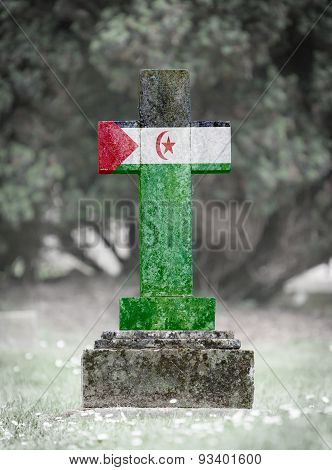 Gravestone In The Cemetery - Western Sahara