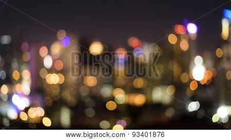 Blurry Of Bangkok Night