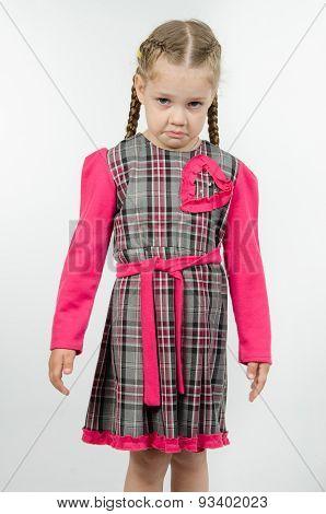 Portrait Of Upset Four-year Girl