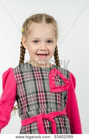Portrait Of Cheerful Four-year Girl