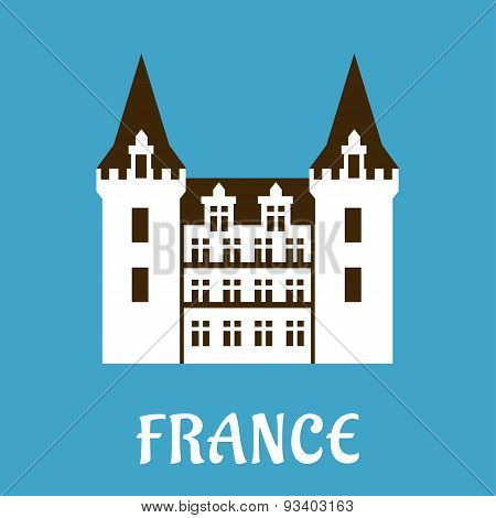 Renaissance castle with turrets, France