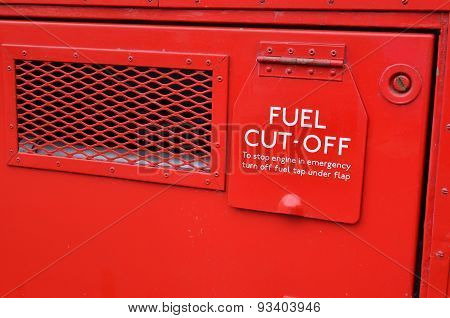 Fuel cut off sign.