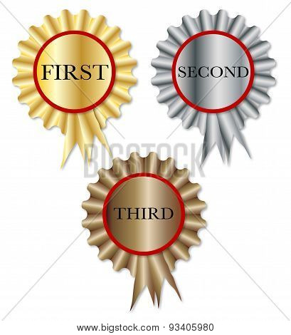 First Second Third Rosette