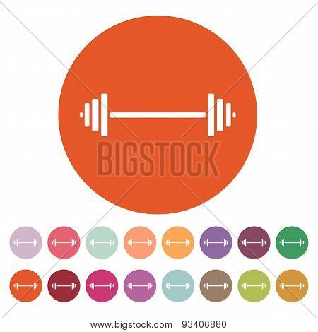 The Dumbbell Icon. Bodybuilding Symbol. Flat