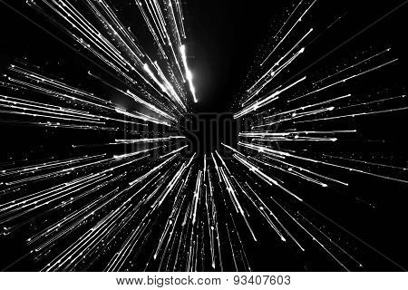 long exposure, abstract motion lines of light